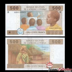 CENTRAFRIQUE - Billet de 500 Francs - 2002 P306m2