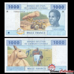 CENTRAFRIQUE - Billet de 1000 Francs - 2002 P307m3