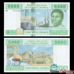 AFRIQUE CENTRALE - Republique Centrafricaine - Billet de 5000 Francs - 2002