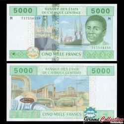 CENTRAFRIQUE - Billet de 5000 Francs - 2002 P309m3