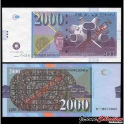 MACEDOINE - Billet de 2000 Dinara - Makedonium - SPECIMEN - 2013
