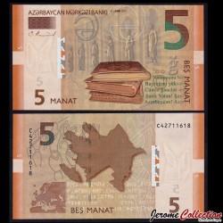 AZERBAIDJAN - Billet de 5 Manat - 2017