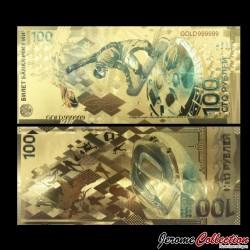 RUSSIE - Billet de 100 Roubles - Jeux Olympiques Soichi - Doré - 2014