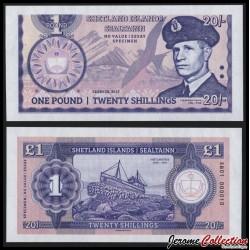 SHETLAND - Billet de 20 Shillings - Leif Larsen - SPECIMEN - 2015