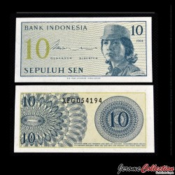 INDONESIE - Billet de 10 Sen - 1964