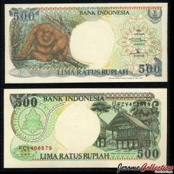 INDONESIE - Billet de 500 Rupiah - Orang Utan - 1996 P128e