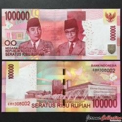 INDONESIE - Billet de 100000 Rupiah - 2014 P153e