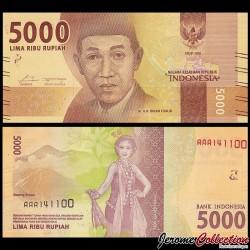 INDONESIE - Billet de 5000 Rupiah - 2016 P156a