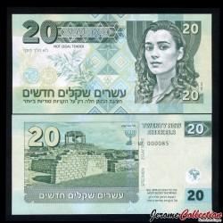 ISRAEL- Billet de 20 New Shekels - Agent Ziva David- SPECIMEN - 2015