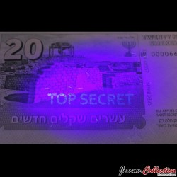 ISRAEL- Billet de 20 New Shekels - Agent Ziva David - 2015
