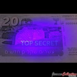 ISRAEL- Billet de 20 New Shekels - Agent Ziva David - 2015