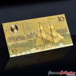 AUSTRALIE - Billet de 10 DOLLARS - Aborigène - Doré - 1988