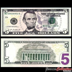 ETATS UNIS / USA - Billet de 5 DOLLARS - 2013 - D(4) Cleveland