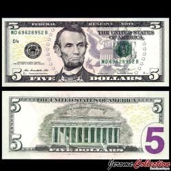 ETATS UNIS / USA - Billet de 5 DOLLARS - 2013 - D(4) Cleveland P539aD