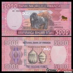 RWANDA - Billet de 5000 Francs - 2014