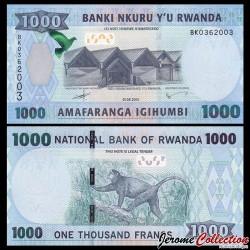 RWANDA - Billet de 1000 Francs - 2015