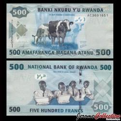 RWANDA - Billet de 500 Francs - 2013