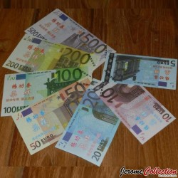 Lot / Set 7 Billets EURO - 5 10 20 50 100 200 500 - Echantillons