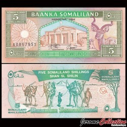 SOMALILAND - Billet de 5 Shillings - 1994 P1a