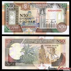SOMALIE - Billet de 50 Nouveaux Shillings somaliens - 1991 PR2