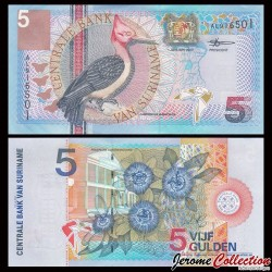 SURINAME - Billet de 5 Gulden - 2000