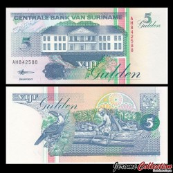 SURINAME - Billet de 5 Gulden - 10.02.1998