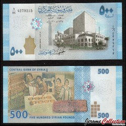 SYRIE - Billet de 500 Pounds - Opéra de Damas - 2013