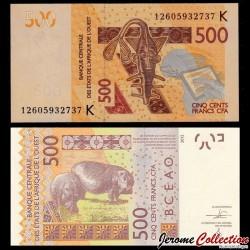 BCEAO - SENEGAL - Billet de 500 Francs - 2012