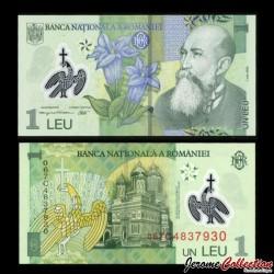 ROUMANIE - Billet de 1 Leu - Polymer - 2006