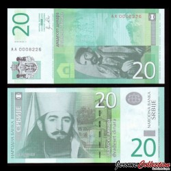 SERBIE - Billet de 20 Dinara - 2011 - Petar II Njegoš