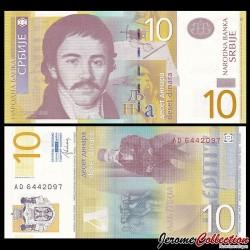 SERBIE - Billet de 10 Dinara - Vuk Stefanović Karadžić - 2013 P54b