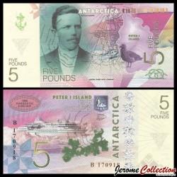 ILE PIERRE 1er / PETER ISLAND - Billet de 5 Pounds - Nicolai Handsen - 2017 0005