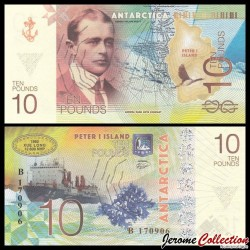 ILE PIERRE 1er / PETER ISLAND - Billet de 10 Pounds - Robert Falcon Scott - 2017