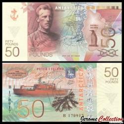 ILE PIERRE 1er / PETER ISLAND - Billet de 50 Pounds - Fridtjof Nansen - 2017 0050