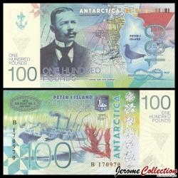 ILE PIERRE 1er / PETER ISLAND - Billet de 100 Pounds - Carsten Borchgrevink - 2017