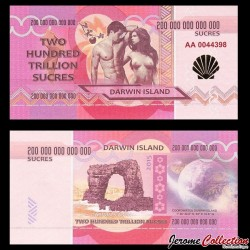 ILE DARWIN / DARWIN ISLAND - Billet de 200 Trillion de Sucres - 2015