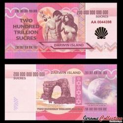ILE DARWIN / DARWIN ISLAND - Billet de 200 Trillion de Sucres - 2015 0200