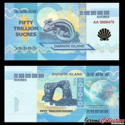 ILE DARWIN / DARWIN ISLAND - Billet de 5 Trillion de Sucres - 2015