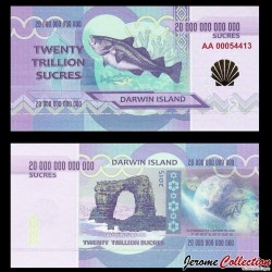 ILE DARWIN / DARWIN ISLAND - Billet de 20 Trillion de Sucres - 2015