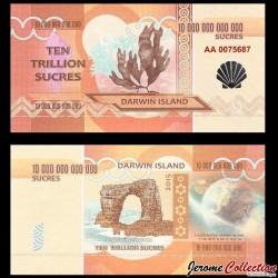 ILE DARWIN / DARWIN ISLAND - Billet de 10 Trillion de Sucres - 2015