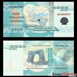 ILE DARWIN / DARWIN ISLAND - Billet de 1 Trillion de Sucres - 2015