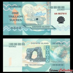 ILE DARWIN / DARWIN ISLAND - Billet de 1 Trillion de Sucres - 2015 0001