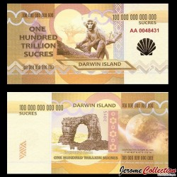ILE DARWIN / DARWIN ISLAND - Billet de 100 Trillion de Sucres - 2015