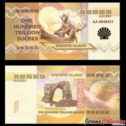 ILE DARWIN / DARWIN ISLAND - Billet de 100 Trillion de Sucres - 2015 0100