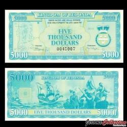 REDONDA - Billet de 5000 DOLLARS - 2013