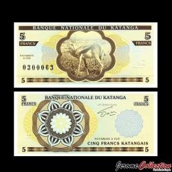 KATANGA - Billet de 5 Francs - Gazelle - 2013