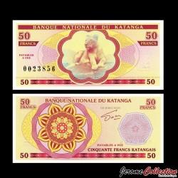 KATANGA - Billet de 50 Francs - Lionne - 2013