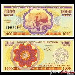 KATANGA - Billet de 1000 Francs - Elephants - 2013