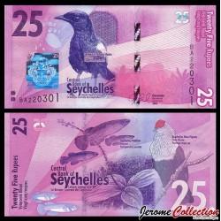 SEYCHELLES - Billet de 25 Roupies - Pie des Seychelles - 2016 P48a