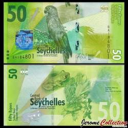SEYCHELLES - Billet de 50 Roupies - Oiseau Vaza des Seychelles - 2016